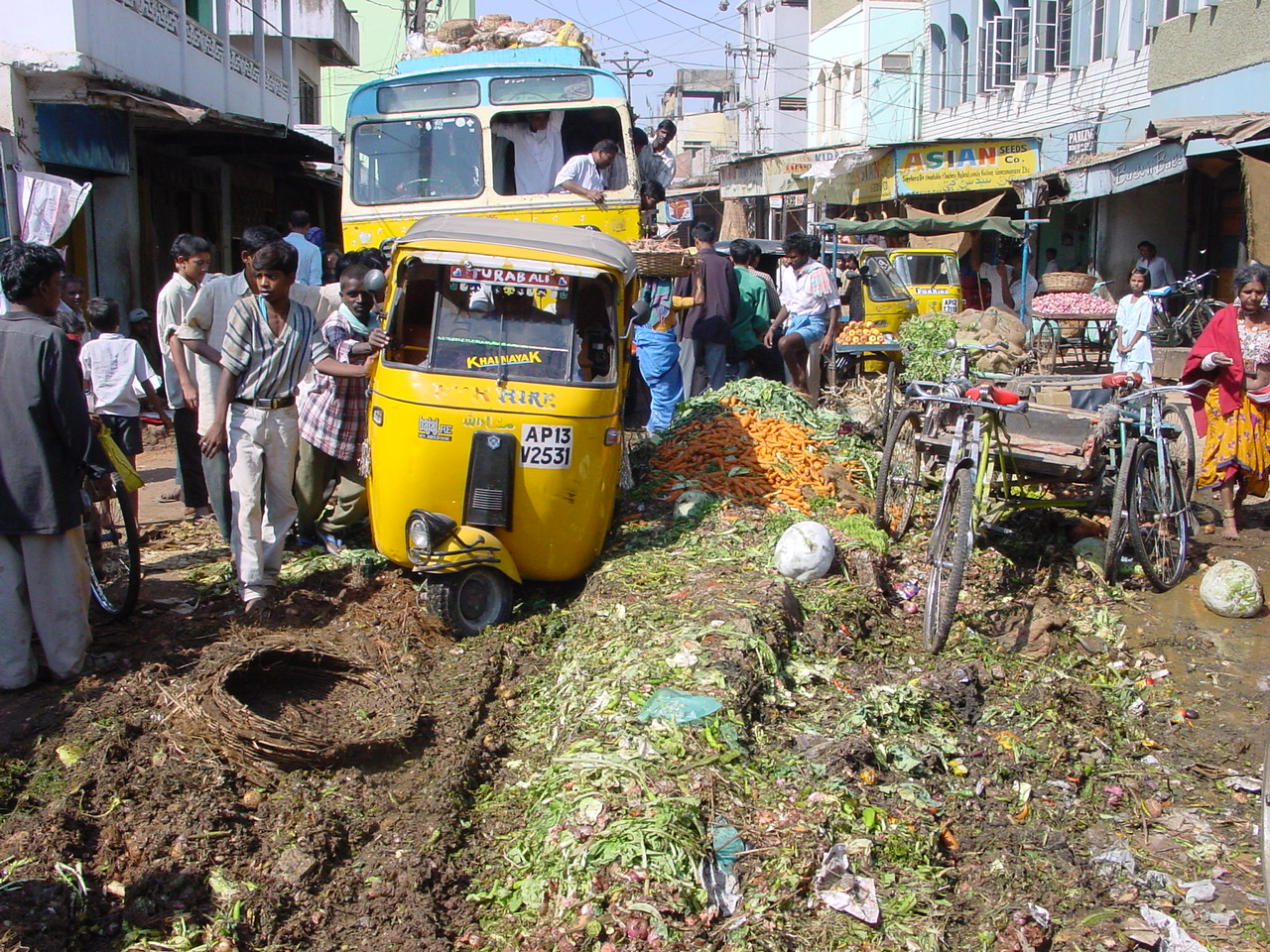 Au marché à Hyderabad... (photo Clarisse BROCHIER)