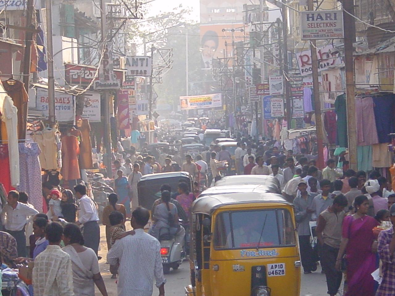 Une rue d'Hyderabad (photo Clarisse BROCHIER)