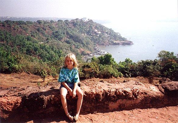 Près de Goa, vue du fort d'Aguado